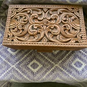 Hand carved large jewelry box